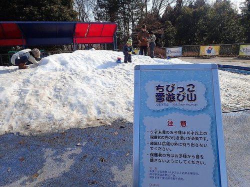 ちびっこ雪遊び山